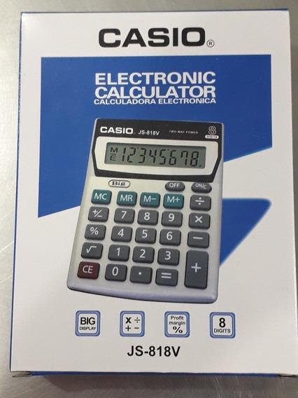 Calculadora Casio Js-818v Bateria 8 Digitos
