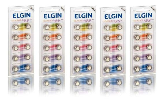 10 Cartelas Baterias Alcalina Sendo 5 Da Lr44 E 5 Da Lr41