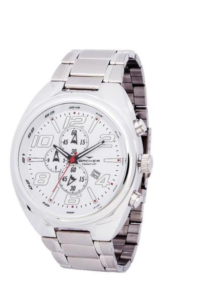 Relógio Backer Masculino 11005653m Br Cronógrafo Prateado