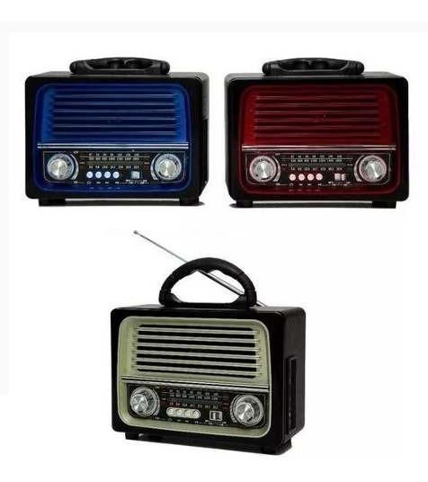 Caixa De Som Radio Retrô Bluetooth, Pendrive Lelong Le-642
