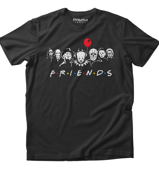 Playera Friends Halloween It Chucky Gris Carbón Hombre Mujer