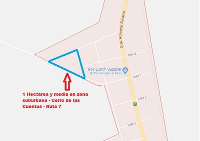 1 Ha Y Media Terreno Suburbano En Cerro De Las Cuentas