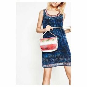 & Vestido Desigual Azul Edi 40 Nuevo Con Envío