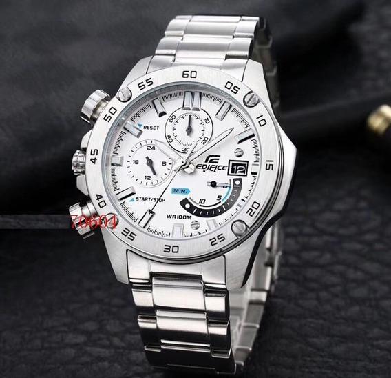 Relógio Casio Edifice Efr-558db Fundo Branco Novo Modelo