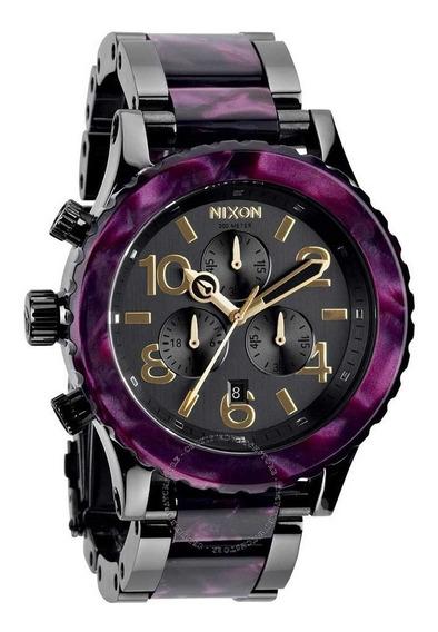 Relógio Nixon 42-20 Chrono Minimize Gunmetal Velvet