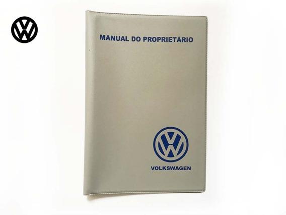 Capa Porta Manual Fusca E Outros Vw Cinza E Azul