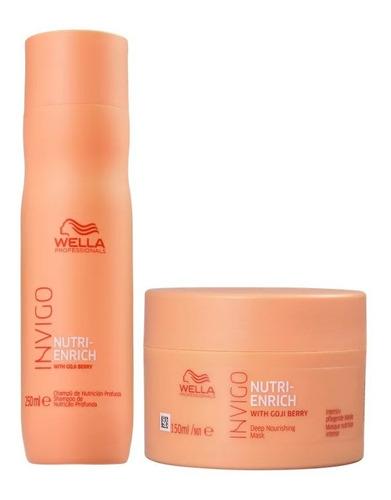 Kit Wella Invigo Enrich Shampoo 250g & Mascara 150g Original