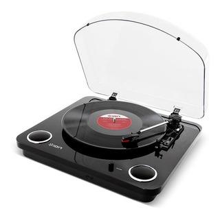 Ion Max Lp Black Bandeja Giradisco Usb C/parlantes Stereo