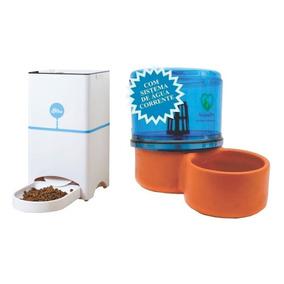 Comedouro Playpet Azul + Acquapet 2,5 L Azul