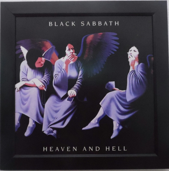 Quadro Black Sabbath Heaven And Hell Quadro Lp Capa Do Disco