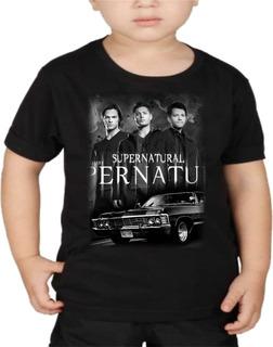 Camiseta Infantil Supernatural Dean Sam Winchester Criança