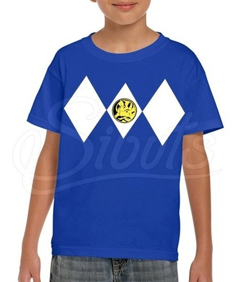 Playera Para Niño Power Ranger Blue Varias Tallas