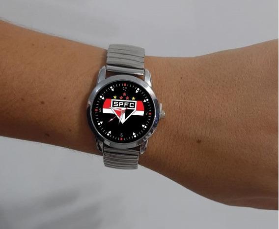 2 Relógios - Feminino São Paulo Spfc Futebol - Kit C/2