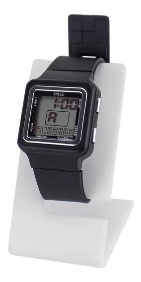 Relógio Unissex Digital Preto Á Prova D´água - Krs25