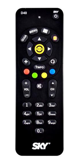 Controle Remoto Sky Digital Sky-livre D40 Original Novo