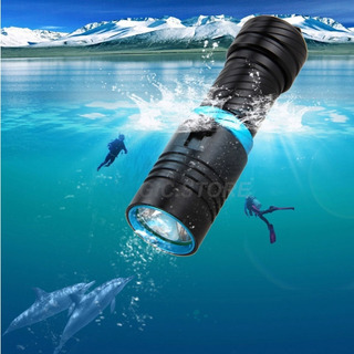Lámpara Sumergible Para Buceo Camping Linterna T6 3000lm