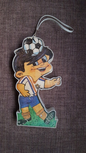 Antiguo Radio En Forma De Jugador De Futbol Año 1974