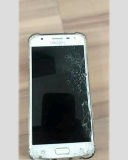 Smartphone Samsung J5 Prime Tela Trincada Mais Otimo
