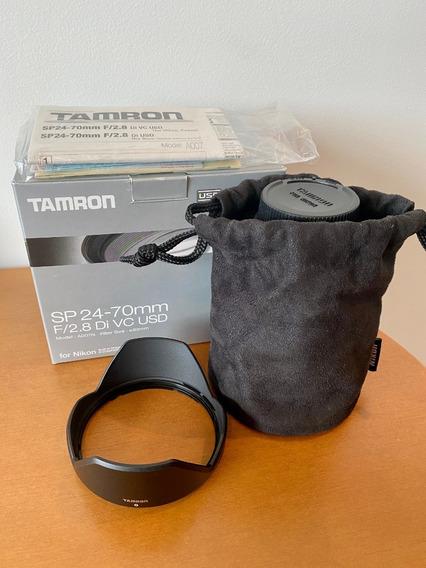 Lente Tamron Sp 24-70mm F/2.8 Di Vc Usd Para Nikon (enviando
