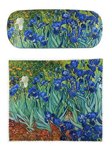 Van Gogh Irises Pintura Premium Tela Funda De Anteojos Y De