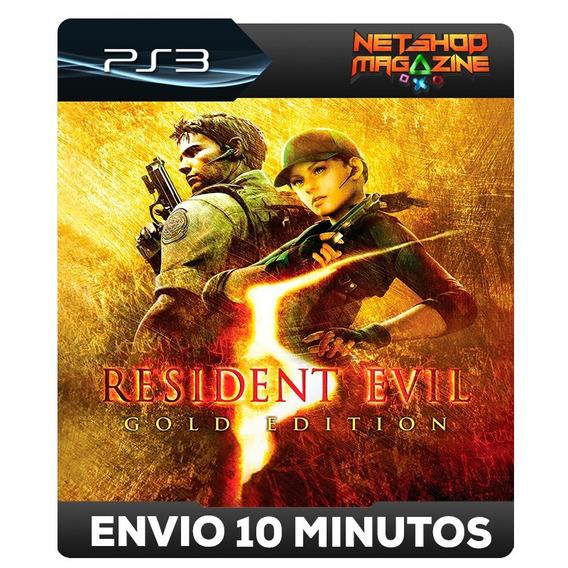 Resident Evil 5 Gold Edition - Psn Ps3 - Envio Imediato