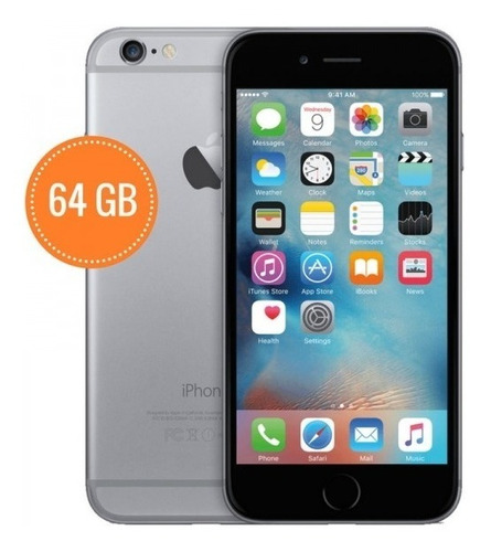 Celular Smartphone Apple iPhone 6 64gb Cinza - 1 Chip