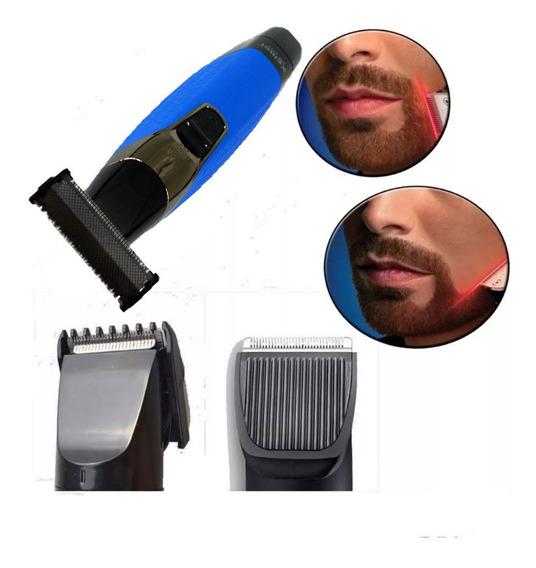 Maquina De Cortar Cabelo Recarregavel Bivolt Aparador Barba