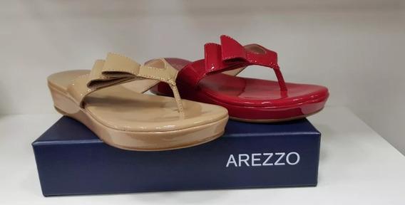 Sandália Salto Baixo Vernizes/neutros Eco Verniz - Arezzo