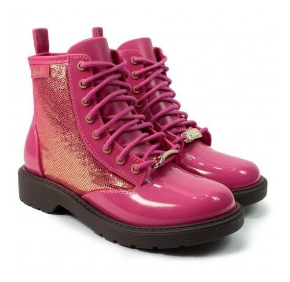 Bota Barbie Coturno Infantil 21571 - Pink