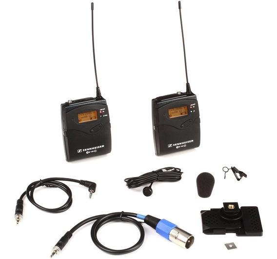 Sistema De Microfone Sennheiser Ew 122p G3 Lapela