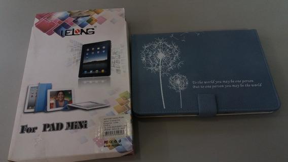 Capa Case iPad Mini Azul Com Frase Escrita