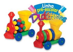 Locomotiva De Brinquedo Infantil De Montar Didatico
