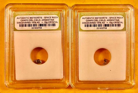 2 Auténticos Meteoritos D Campo D Cielo Prov. Chaco Argentin