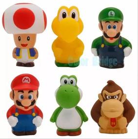 Figuras Mini Muñecos Super Mario Bros 6 Personajes Gk