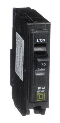 Imagen 1 de 3 de Pastilla Interruptor Termomagnético Qo170 1polo70a Schneider