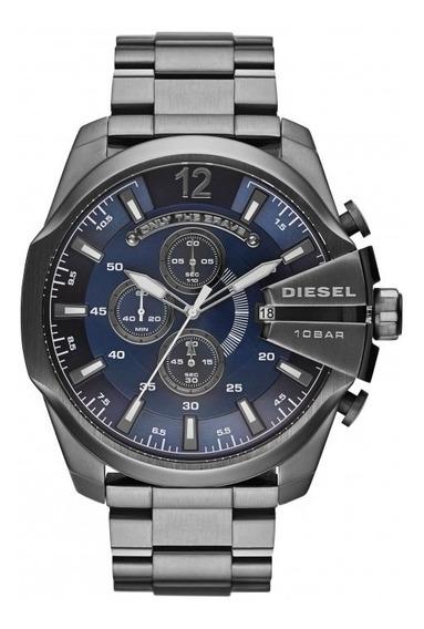 Relógio Diesel Masculino Mega Chief Cronógrafo Dz4329/1an