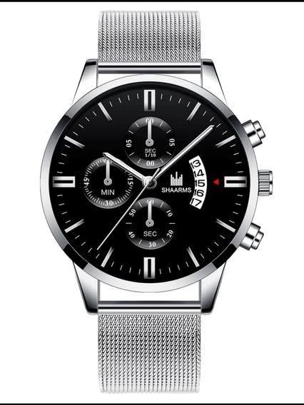 Relógio Masculino Aço Inoxidável Luxo Casual