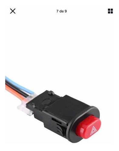 Boton Switche Luz Intermitente Moto