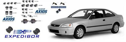 Kit Completo 30 Buchas Honda Civic 1996 A 2000 C/ 28 Axios