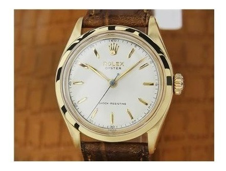 Rolex 6480 Oyster Ouro 1950s 34mm Raridade