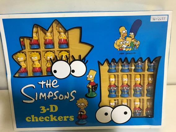 Tabuleiro De Jogo De Dama Os Simpsons Novo Lacrado