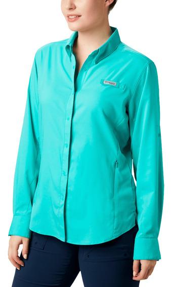 Camisa Columbia Pesca Tamiami Ii Mujer Verde