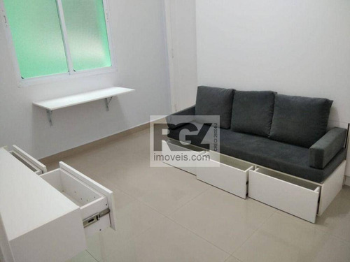 Imagem 1 de 25 de Kitnet Com 1 Dormitório À Venda, 25 M² Por R$ 210.000,00 - José Menino - Santos/sp - Kn0137