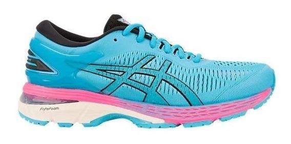 Zapatillas Asics Gel Kayano 25 Celeste/rosa Mujer Running