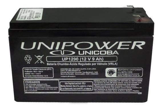 Bateria Unipower 12v 9ah Alarmes Cercas Nobreak