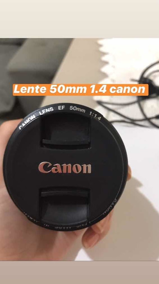 Lente Canon 1.4 50mm