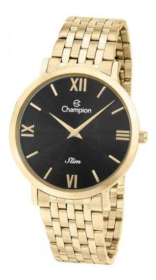 Relógio Champion Masculino Dourado Slim Ca21795u