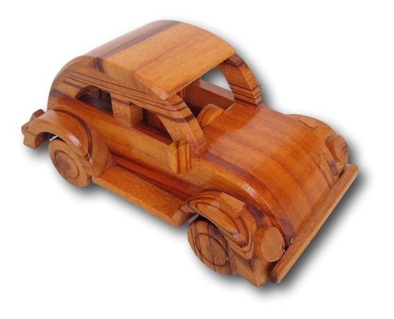 Carrinho Fusca De Madeira Miniatura Decoração Ref. 0691