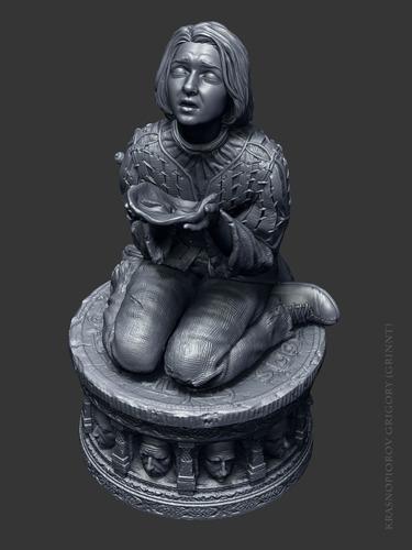 Imagen 1 de 5 de Figura Arya Stark Game Of Thrones Impresion 3d