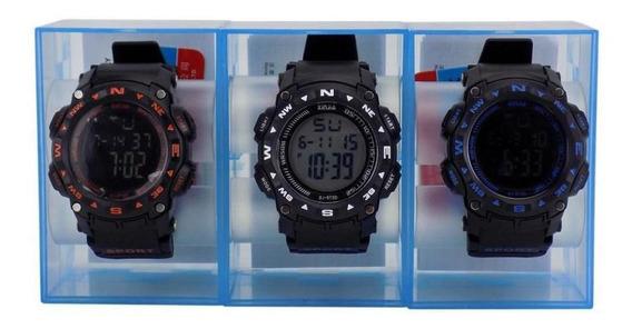 Kit 3 Relógio Masculino Digital À Prova D